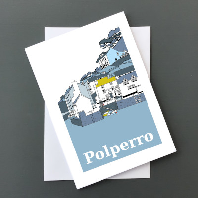 Polperro Harbour Card