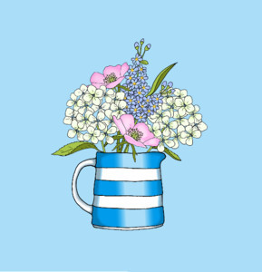 Blank Posy Cornish ware