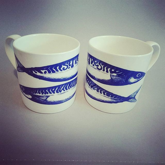 St Ives Mackerel Mug (double fish)