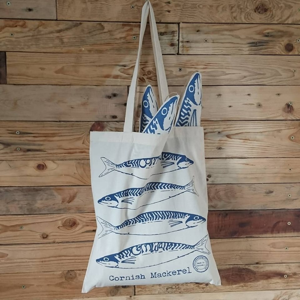 Cornish Mackerel tote bag